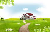Paisagem natural. conceito ecológico — Fotografia Stock