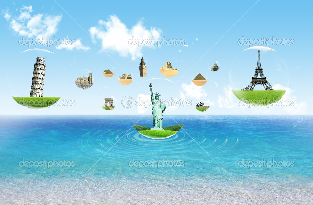 European holidays - travelling background. concept — Stock Photo #8714209