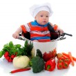 Boy with a pan — Stock Photo #10468988