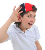Portret van emotioneel jongen. — Stockfoto