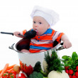 Boy with a pan — Stock Photo #10578603