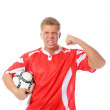 Footballer player — Stock Photo