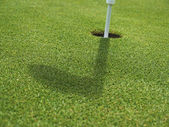 Golf - Grass with Hole — Stock Photo