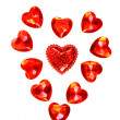 Red Hearts Valentine — Stock Photo