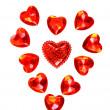 Красные сердца Валентина — Стоковое фото