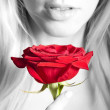 Royalty-Free Stock Photo: Woman with a rose