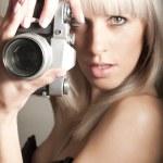 Sexy pretty photographer — Stock Photo #9587708