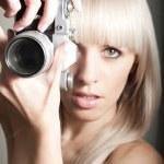 Sexy pretty photographer — Stock Photo #9587709