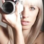 Sexy pretty photographer — Stock Photo #9587713