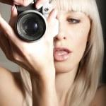 Sexy pretty photographer — Stock Photo #9587714