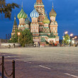 Red square at night - Stock Photo