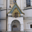 Entrance to the tomb of the Romanov boyars in Novospassky Monastery - Stock Photo