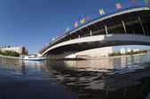 River boat on Moscow River — Foto Stock