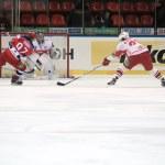 Hockey match Spartak-CSKA — Stock Photo