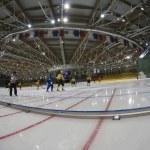 Bandy match in Ice sports palace Krylatskoye — Stock Photo #9298428