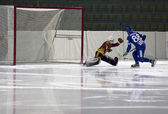 Goal in Bandy match — Photo