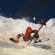 Fall of a skier — Stock Photo