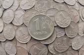 An iron ruble — Stock Photo
