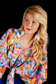 Portrait of blond girl. — Stock Photo