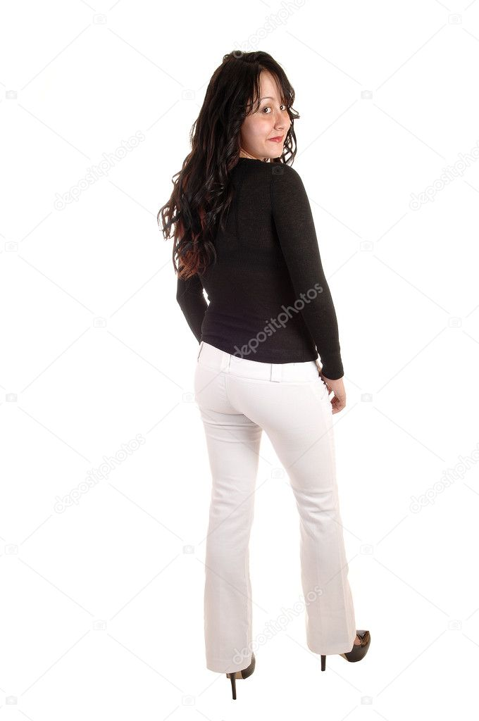 Woman in white dress pants. — Stock Photo © sucher #8626774