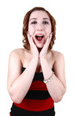 Screaming young girl. — Stock Photo