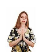Praying woman. — Stock Photo