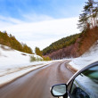 Winding roads of winter — Stock Photo