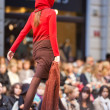 PRAGUE-SEPTEMBER 24 A model walks the runway during the 2011 au — Stock Photo #7988469