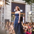 PRAGUE-SEPTEMBER 24 A model walks the runway during the 2011 au — Stock Photo #7988565