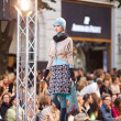 PRAGUE-SEPTEMBER 24 A model walks the runway during the 2011 au — Stock Photo #7988616