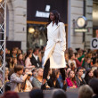 PRAGUE-SEPTEMBER 24 A model walks the runway during the 2011 au — Stock Photo #7988747