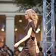 PRAGUE-SEPTEMBER 24 A model walks the runway during the 2011 au — Stock Photo #7988799