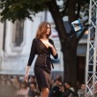 Stock Photo: PRAGUE-SEPTEMBER 24 A model walks the runway during the 2011 au