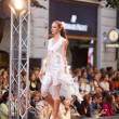 PRAGUE-SEPTEMBER 24 A model walks the runway during the 2011 au — Stock Photo #7988886