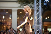 PRAGUE-SEPTEMBER 24 A model walks the runway during the 2011 au — Stock Photo