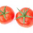 Tomato with water drops isolated on white — Stock Photo #8057483