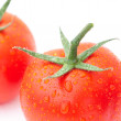 Background of the tomato with water drops — Stock Photo #8057510