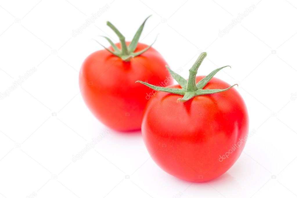 Red ripe tomato isolated on white — Stock Photo #8057457