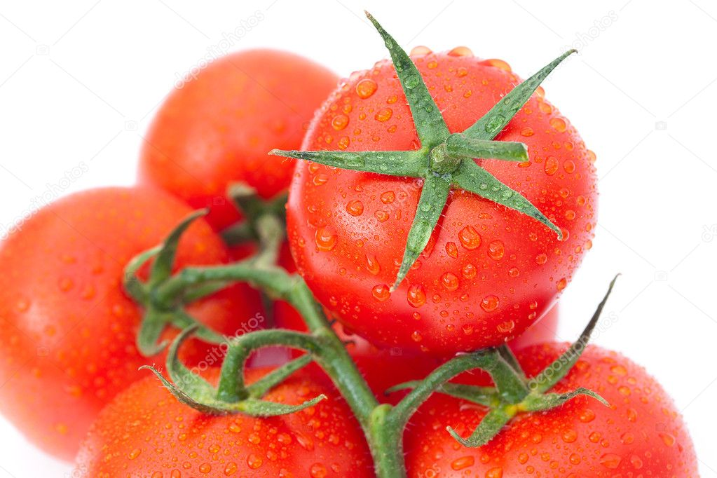 Background of the tomato with water drops — Stock Photo #8057502