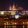 Beautiful night view of Prague Castle - Stock Photo