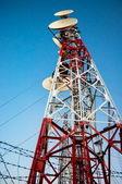 Antenna steel structure — Stock Photo