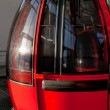 Alpine red cable-car — Stock Photo