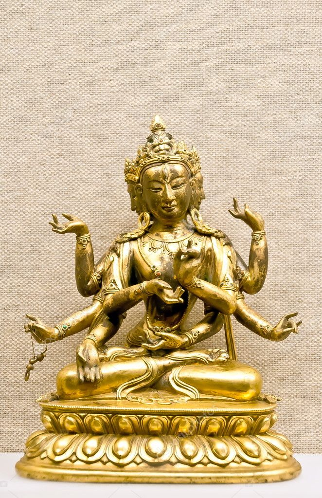 Hindu mythological traditional god statuette in bronze ore — Stock Photo #9133175