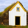 Stock Photo: Traditional Iceland turf roof house