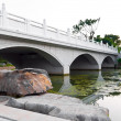 White chinese bridge — Stock Photo