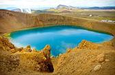 Blue sky lake — Stock Photo