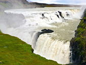 Gullfoss waterfall in iceland — Photo