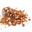 Stock Photo: Caramelized crumbled Almonds