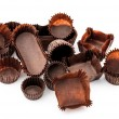 Stock Photo: Chocolate Brown Mixed bakery cups