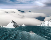 ICEBERG with nice sky — Stock Photo